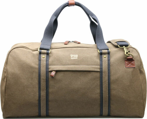 Troop Classic Brown Canvas Travel Duffel Holdall