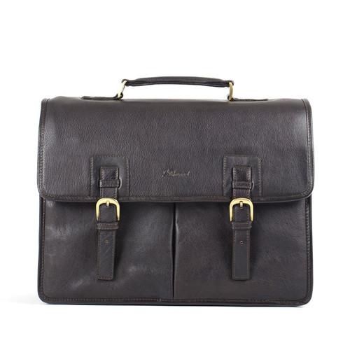 Ashwood Westminster Gareth Triple Gusset Brown Leather Briefcase