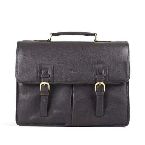 Ashwood Westminster Gareth Triple Gusset Brown Leather Briefcase
