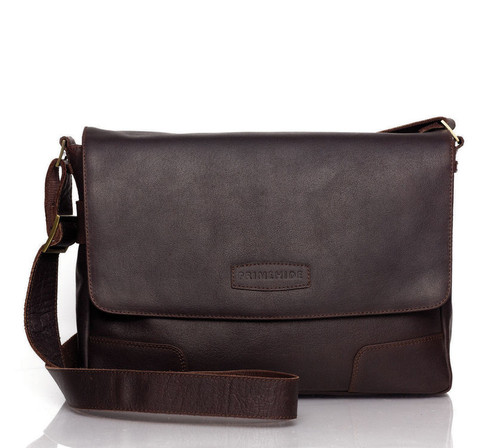 Prime Hide Elpaso Brown Leather Messenger Bag
