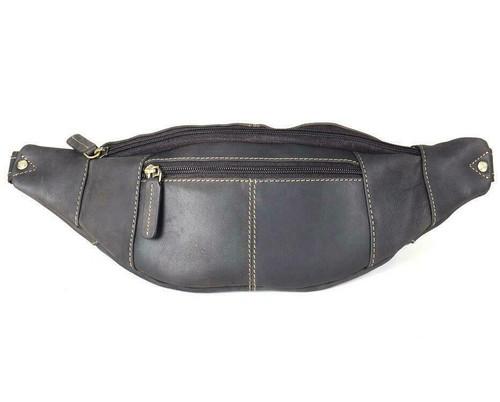 Visconti Leather Bum Bag - Brown
