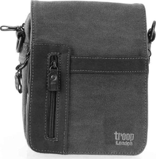 Troop Black Canvas Flight-Waist Bag