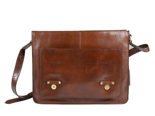 Ashwood Josh Chestnut Leather School Satchel