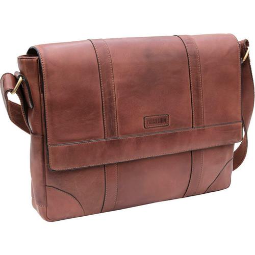 Prime Hide Ridgeback Luxury Brown Leather Large Messenger Bag