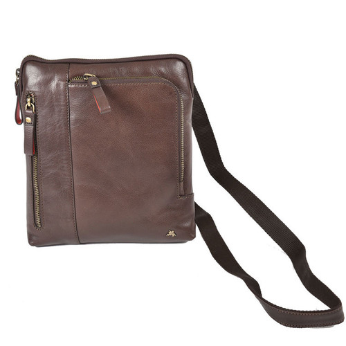 Visconti Roy Leather Flight Zip Bag