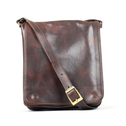 Delamore Mid Town Dark Brown Leather Shoulder Bag