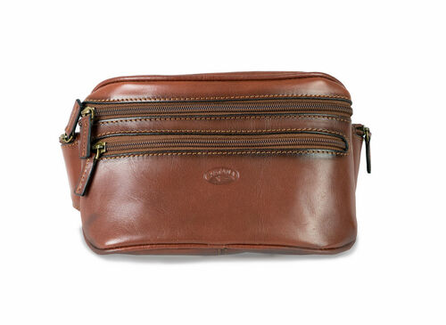Katana Banana Brown Leather Bum Bag