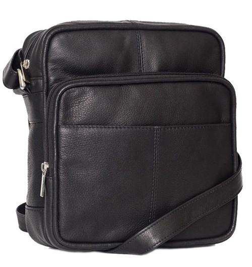 Prime Hide Ranger Black Leather Flight and Travel Bag