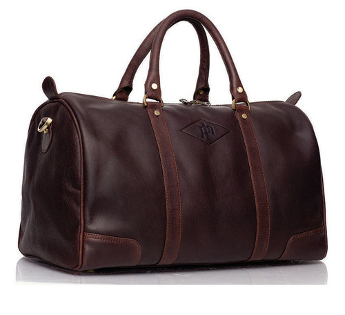 Prime Hide Elpaso Brown Leather Holdall