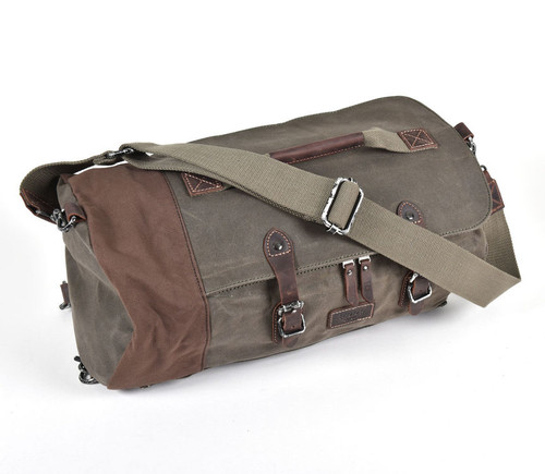 Troop London Heritage Large Olive Canvas Holdall Bag