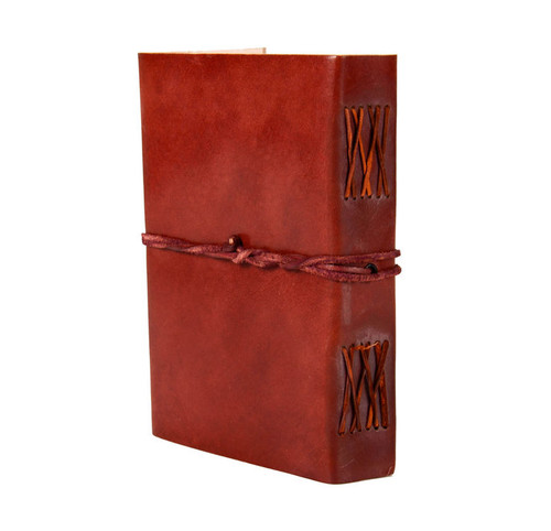 Paperhigh Large Plain Brown Leather Journal