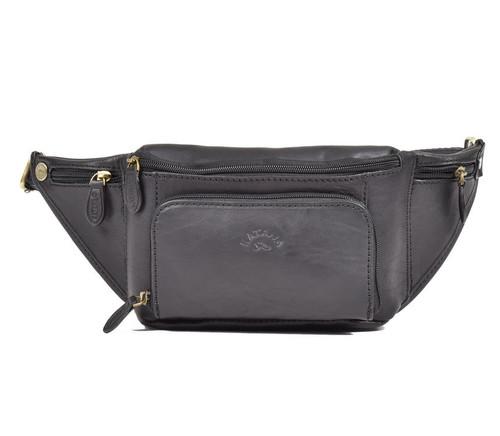 Katana Homme Black Leather Bumbag