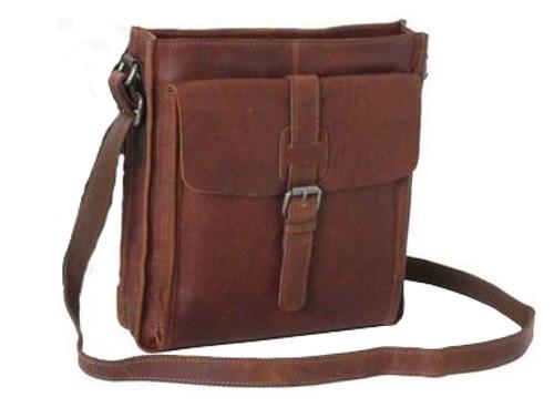 Ashwood Stratford A4 Tan Leather Messenger Bag