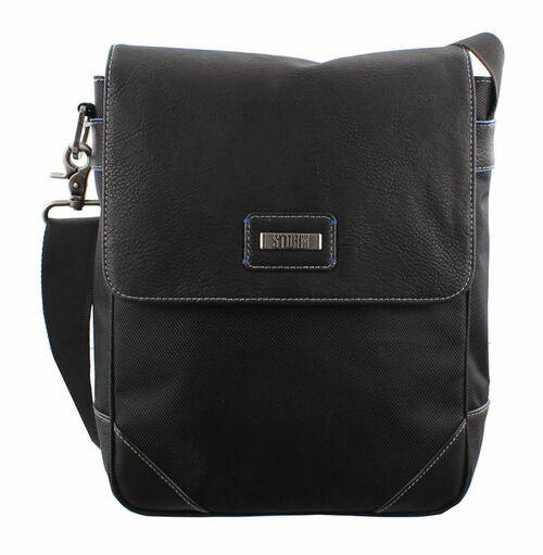 Storm Dante Black Leather Flight Bag