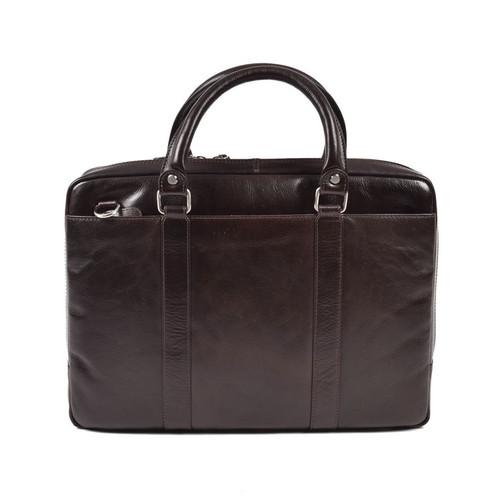 Cotehele Prestige Brown Leather Briefcase