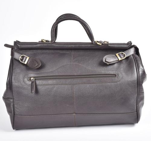 Ashwood Gladstone Brown Leather Holdall