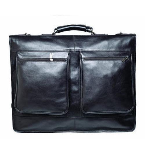 Prime Hide Black Leather Suit Carrier / Garment Bag