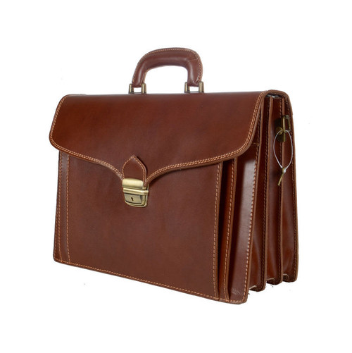 Delamore Brown Leather Briefcase