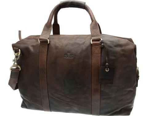 Rowallan Bronco Brown Leather Boston Holdall