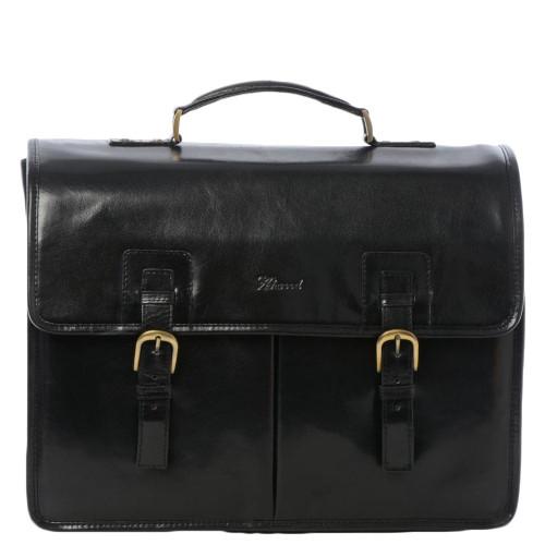Ashwood Chelsea Gareth Mens Triple Gusset Heavy Duty Leather Briefcase
