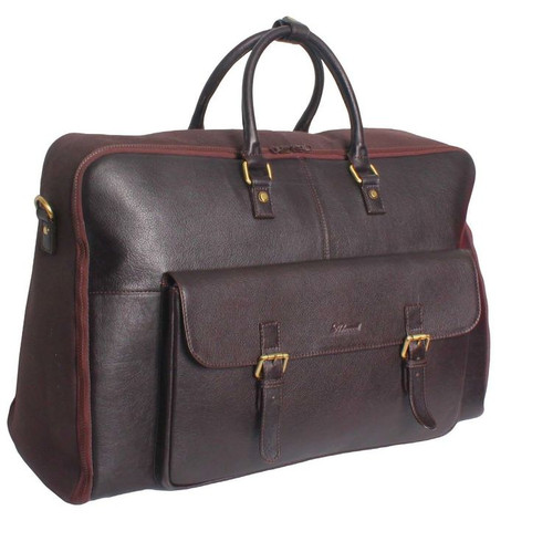 Ashwood Westminster Russell Brown Leather Suit Carrier Holdall