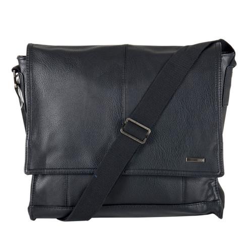 Storm Abbey Black Faux-Leather Despatch Messenger Bag