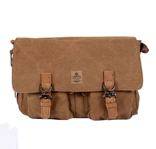 Troop Brown Cotton Messenger Bag