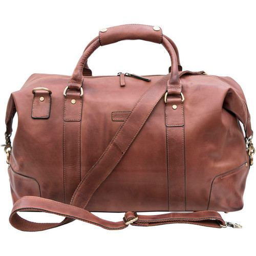 Prime Hide Ridgeback Luxury Brown Leather Holdall