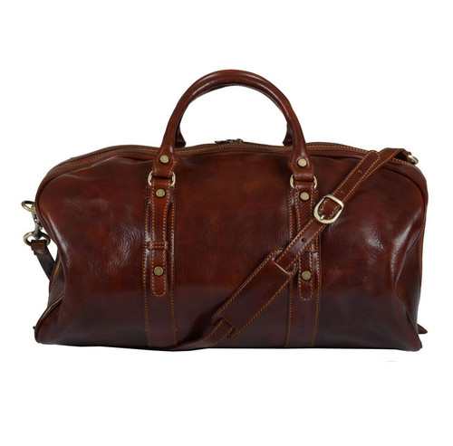 Delamore Brown Leather Luxury Holdall
