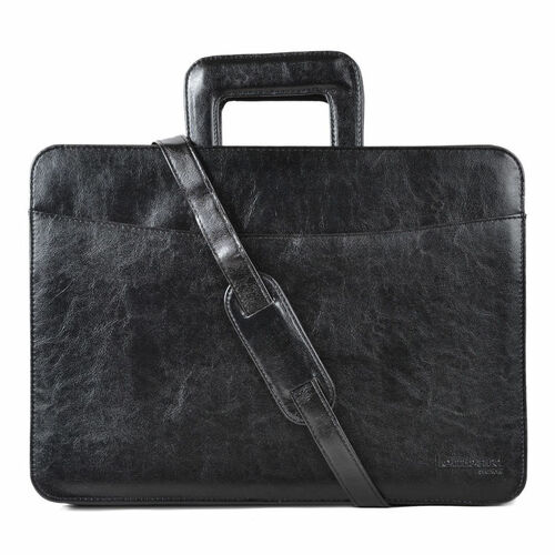 Faux-Leather Tassia Document Laptop Briefcase