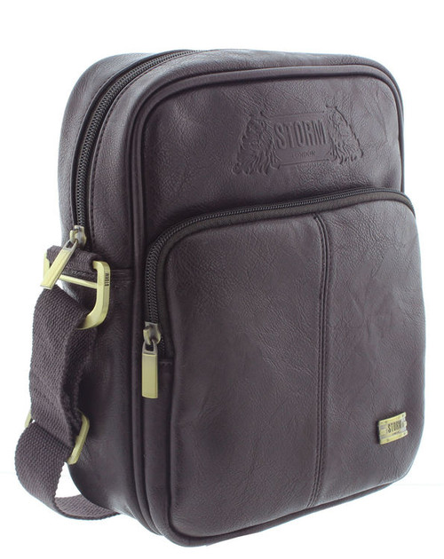 Storm Fraser Brown Faux Leather Flight Bag