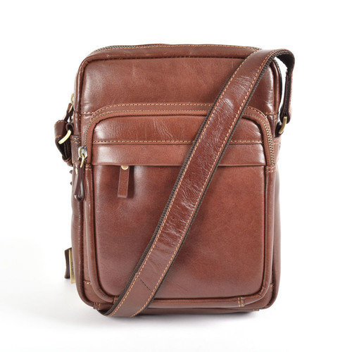 Visconti Brown Leather Holiday Flight Bag