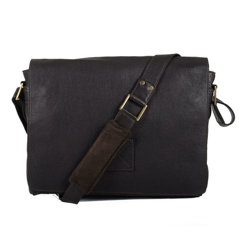Ashwood Westminster Pedro Brown Leather Messenger Bag