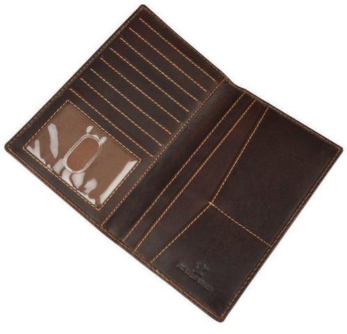 Burnish Brown Buffalo Leather Wallet