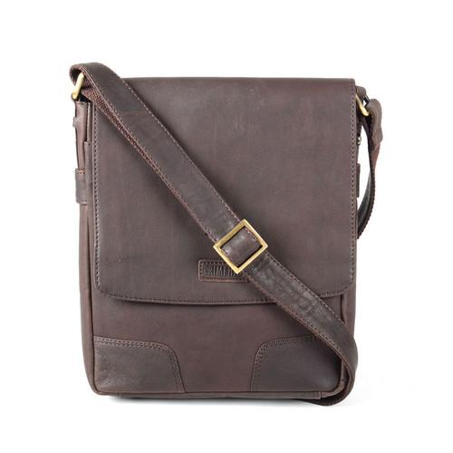 Prime Hide Elpaso Brown Leather Flight Bag
