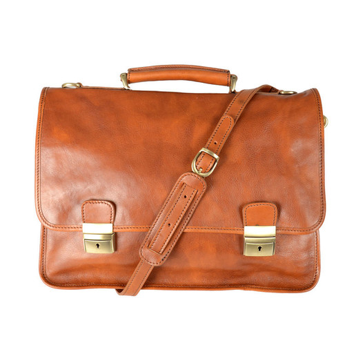 Delamore Soft Tan Leather Briefcase