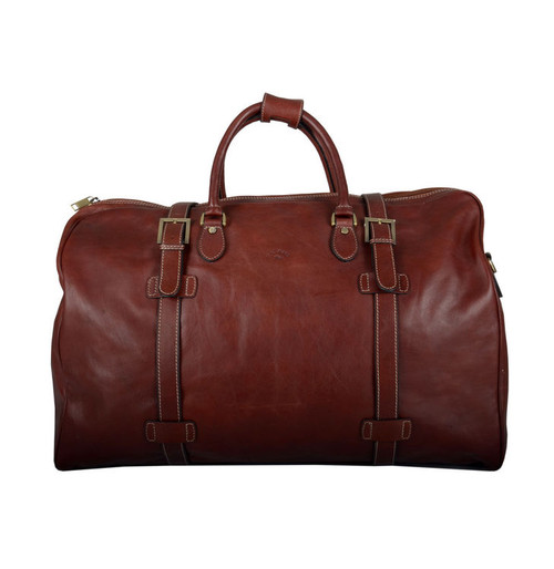 Katana Brown Leather Travel Holdall