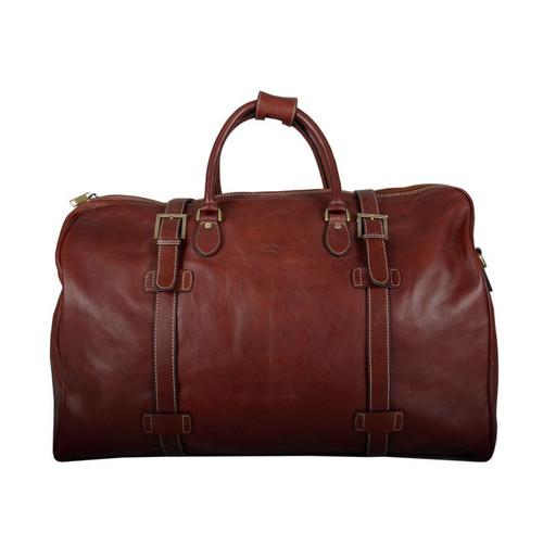Katana Brown Leather Travel Holdall