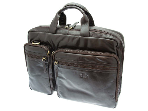 Rowallan Pittsburgh Business Large Leather Twin Handled Briefcase