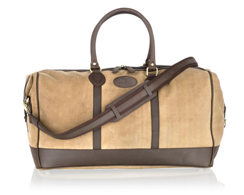 Woodland Leathers. Woodland Leathers Beige Canvas Holdall 1a0624dd447d3