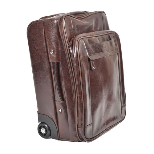 Delamore Brown Leather Laptop Cabin Case