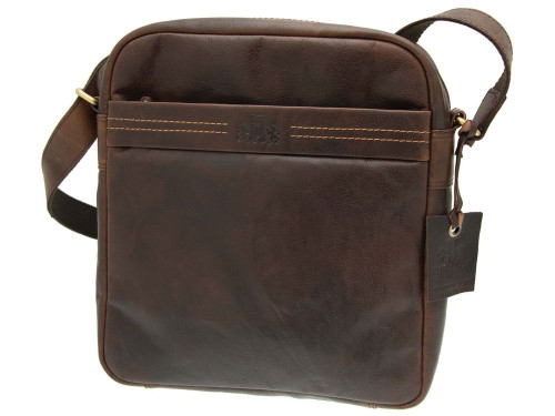 2b0e1033b9 Rowallan Deluxe Brown Leather Shoulder Bag