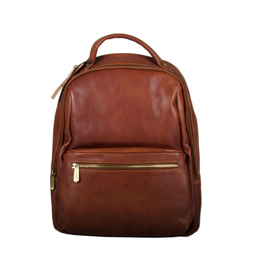 Katana Padded Brown Leather Backpack