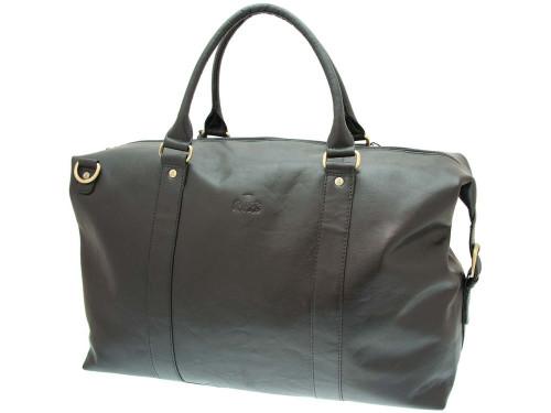Rowallan Brown Leather Safari Holdall