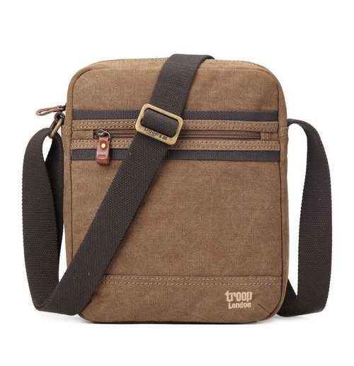Troop London Classic Brown Canvas Travel Bag