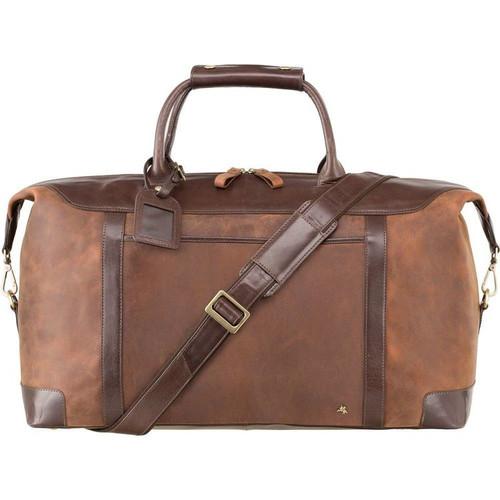 Visconti Toscana Voyager Havana Tan Leather Holdall