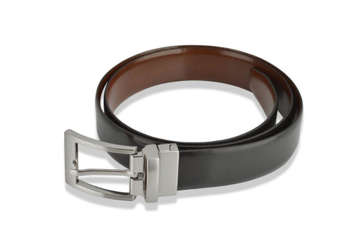 Woodland Leathers Classic Black/ Brown Reversible Leather Belt
