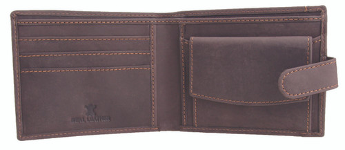 Prime Hide Ranger Brown Leather Wallet
