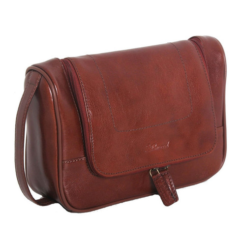 Ashwood Chelsea Leather Hanging Wash Bag