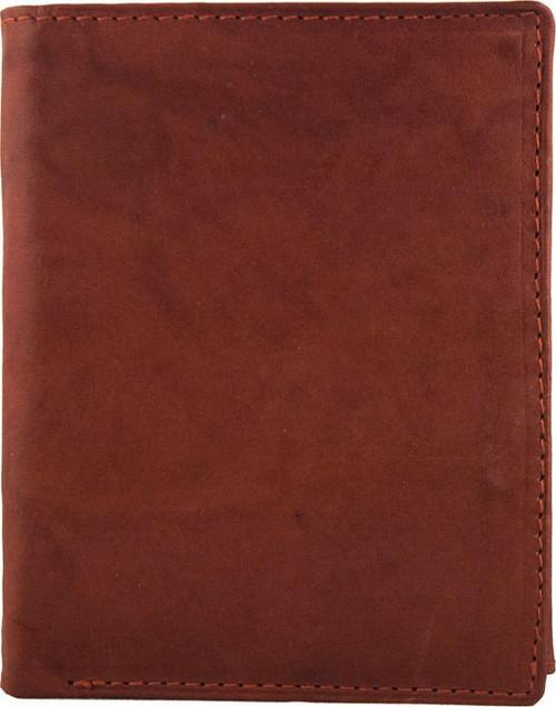 Natural Leather Tan Bi-fold Wallet